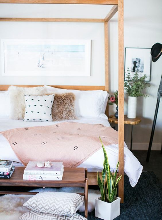 girly bedroom framed bed