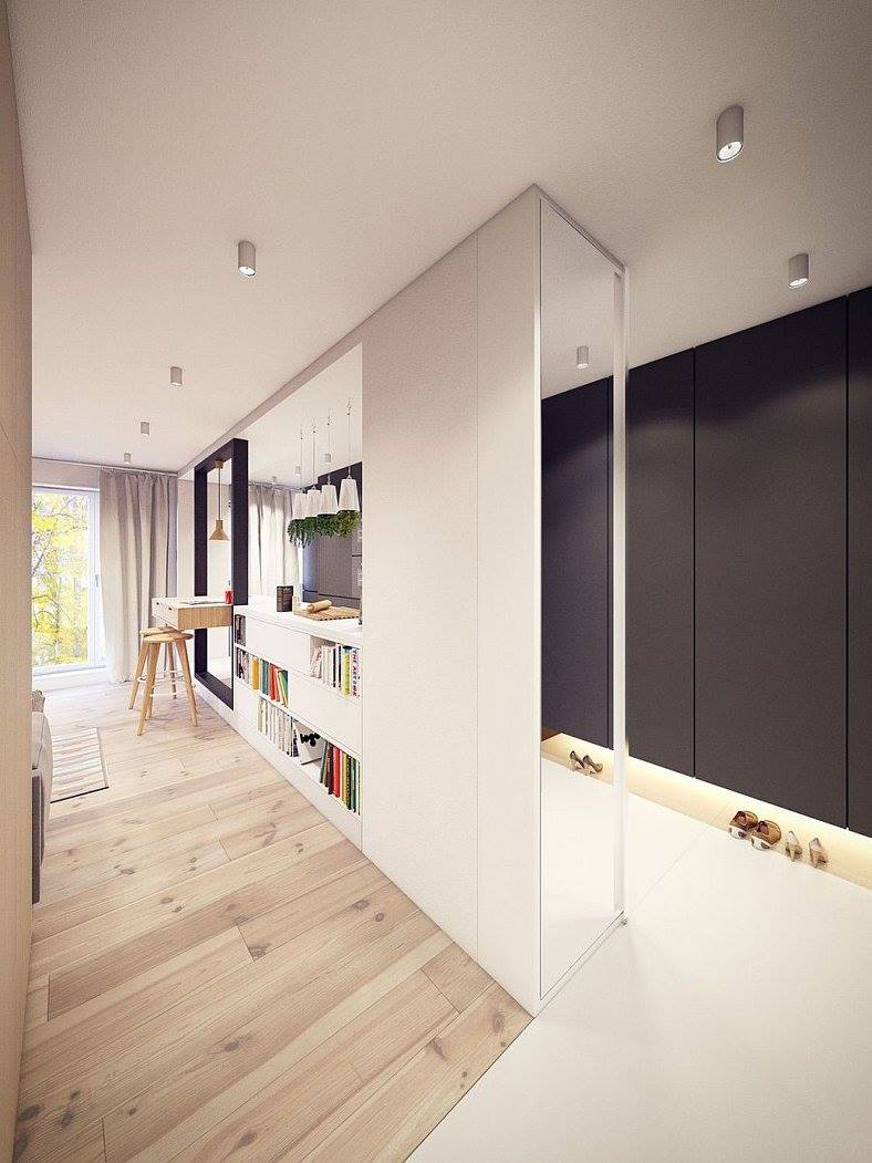 How To Design Endless Storage - 8 Tips For Tiny Flat Owners - Clever hallway storage