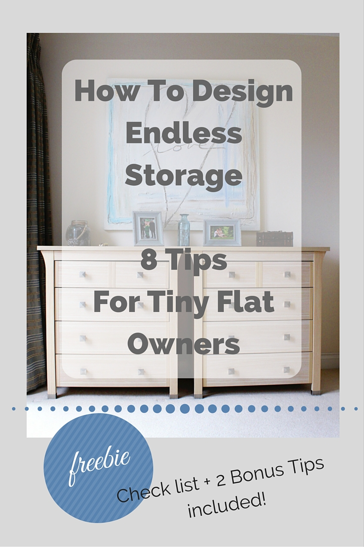 8+2 Tips for small flat owners to create more storage - click through to take a look