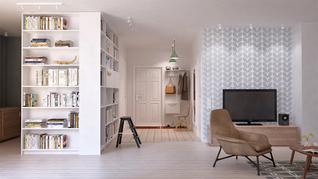 Click through and take a peak at this gorgeous scandi style flat featuring a piano in the living room!